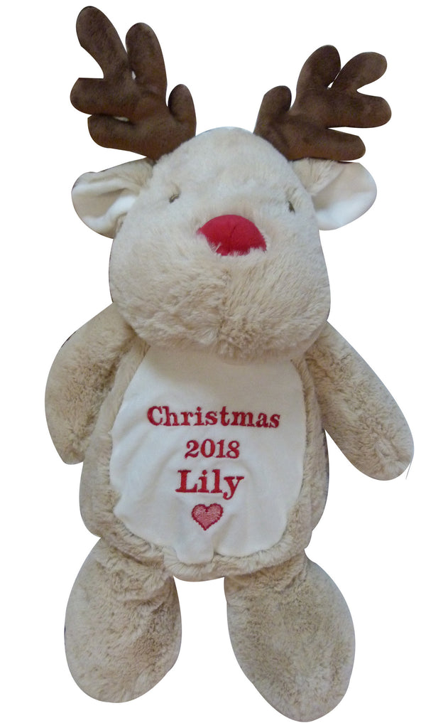 Personalised Mumbles Christmas reindeer with name and short message