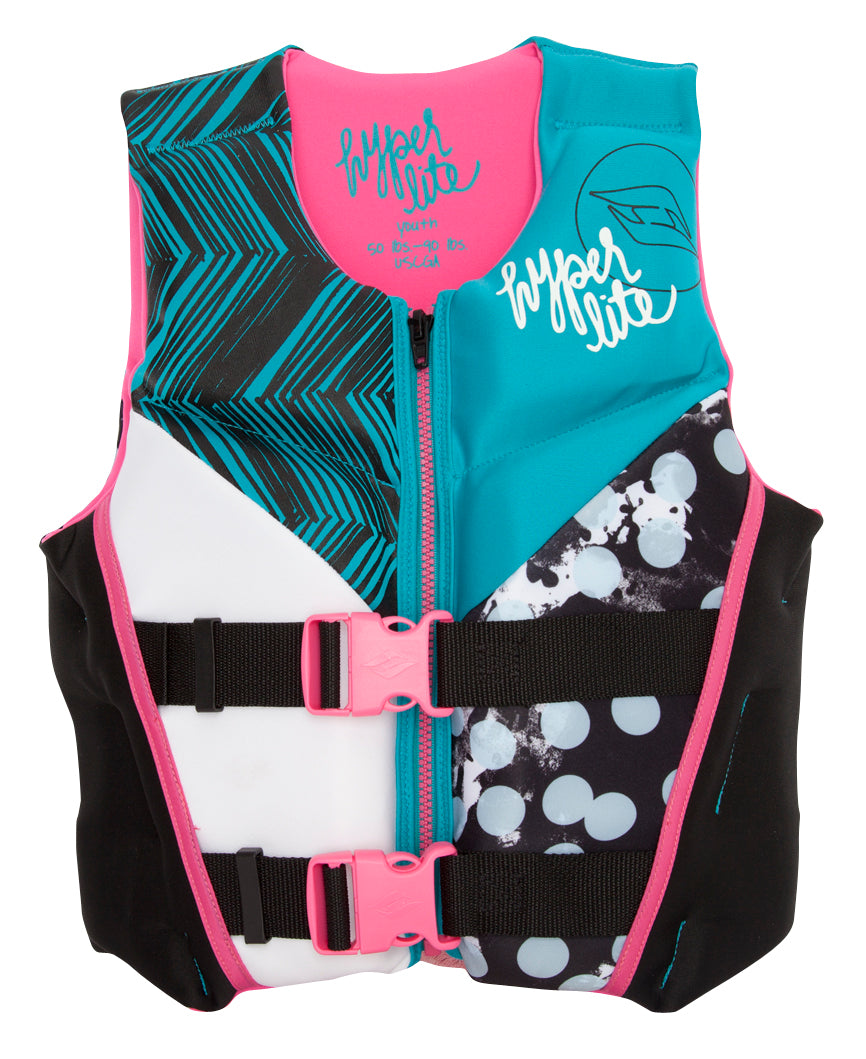 Girlz Youth Indy Neo Vest- Pink 16 thumbnail 1
