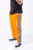 Checkered Trackpant in Orange | PLEASURES | ACE/FIVE