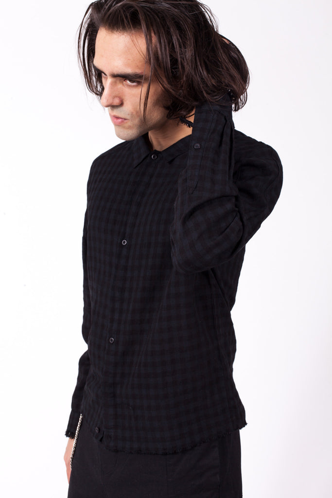 Frit Woven Shirt - Black Paid | Chapter | ACE/FIVE