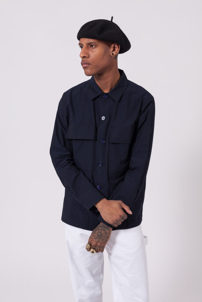 Boxy Long Sleeve Shirt | Maiden Noir | ACE/FIVE