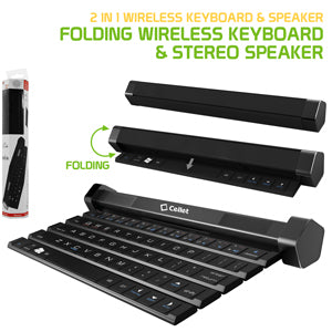 New from Cell-Stuff.net!  Cellet Portable & Wireless Multifunction Wireless Keyboard & Stereo Speaker