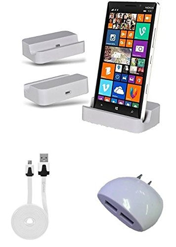 Motorola Moto G (3rd Gen) White Desktop Charger with Dual USB Wall & 6 Foot Cable - Cell-stuff