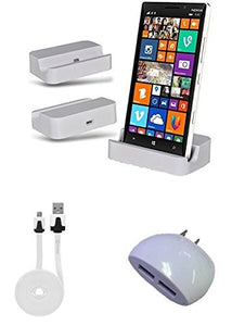 "Alcatel Idol 3 (5.5"") White Desktop Charger with Dual USB Wall & 6 Foot Cable - Cell-stuff"