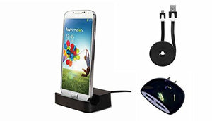 "Alcatel Idol 3 (5.5"") Black Desktop Charger with Dual USB Wall & 6 Foot Cable - Cell-stuff"
