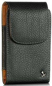 LG K7 Titan Vertical Napa Leather Case with Attached Belt Clip - Cell-stuff