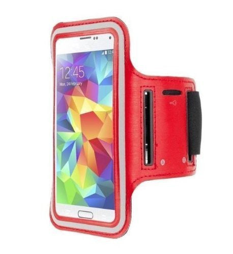 ZTE Tempo Red Neoprene Adjustable Sports Arm Band - Cell-stuff