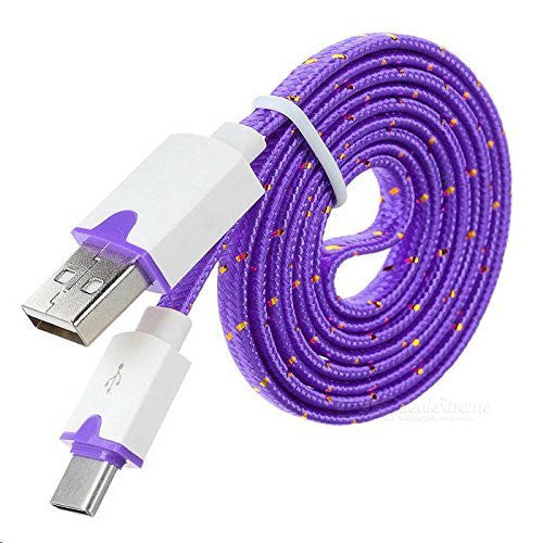 ZTE Warp Elite Purple Braided Micro USB Charging & Data Cable (3 Feet Length) - Cell-stuff