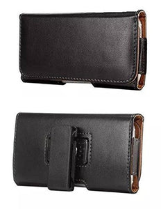 Alcatel Lume Horizontal Smooth Leather Case with Attached Belt Clip - Cell-stuff