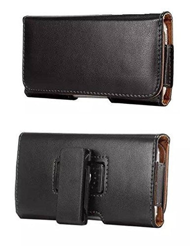 Kyocera Hydro Icon Horizontal Smooth Leather Case - Cell-stuff