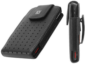 "Motorola ""G4 Play"" (Oversized to Accommodate Cover) Teramo Vertical Leather Case with Attached Belt Clip - Cell-stuff"