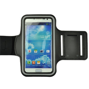 ZTE Grand X 4 Black Neoprene Adjustable Sports Arm Band - Cell-stuff