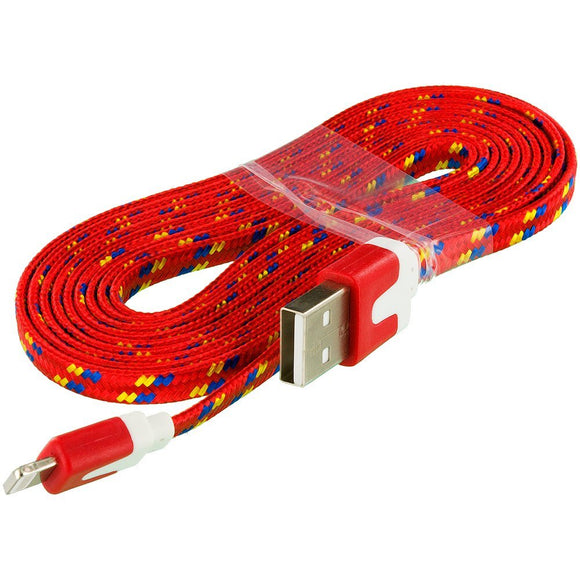 iPhone X (10) Red Braided Type-C USB Charging & Data Cable