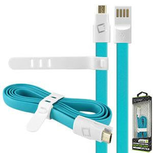 LG X Power Blue Cellet 3 Ft. Flat Wire Charging/Data Sync Cable - Cell-stuff