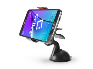"Alcatel Idol 3 (4.7"") Black Dashboard/Windshield Holder (2 Prong) with Suction Cup - Cell-stuff"