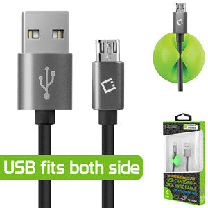 Huawei Union Cellet Reversible 4 FT Micro USB Charging + Data Sync Cable (Cable Holder Included) - Cell-stuff