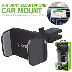 Alcatel CameoX Cellet Premium Air Vent Smartphone Car Mount with 360 Degree Rotation & Tightening Knob
