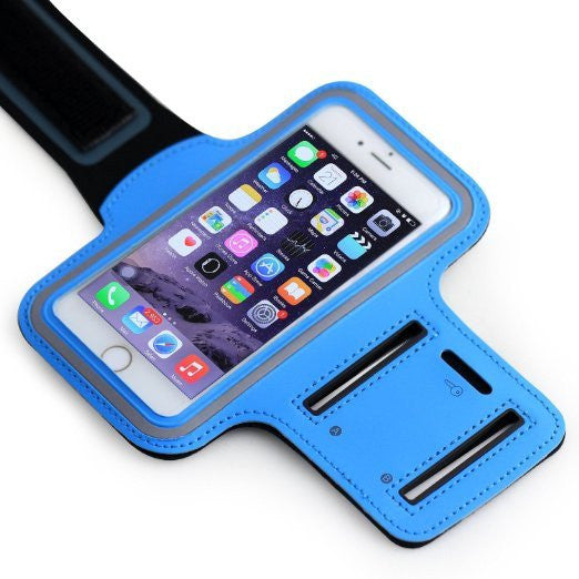 ZTE Tempo Blue Neoprene Adjustable Sports Arm Band - Cell-stuff