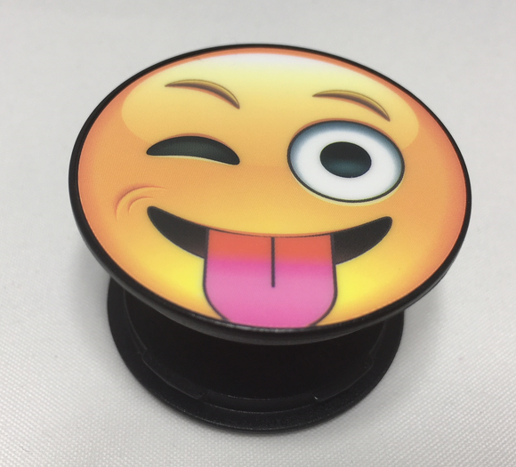 Emoji Tongue Out SpinPop™ Universal Cell Phone Holder