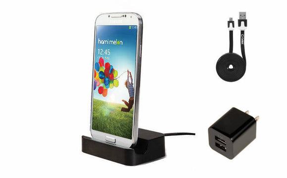 Huawei Ascend 2 Black Desktop Charger with Dual USB Wall & 6 Foot Cable - Cell-stuff