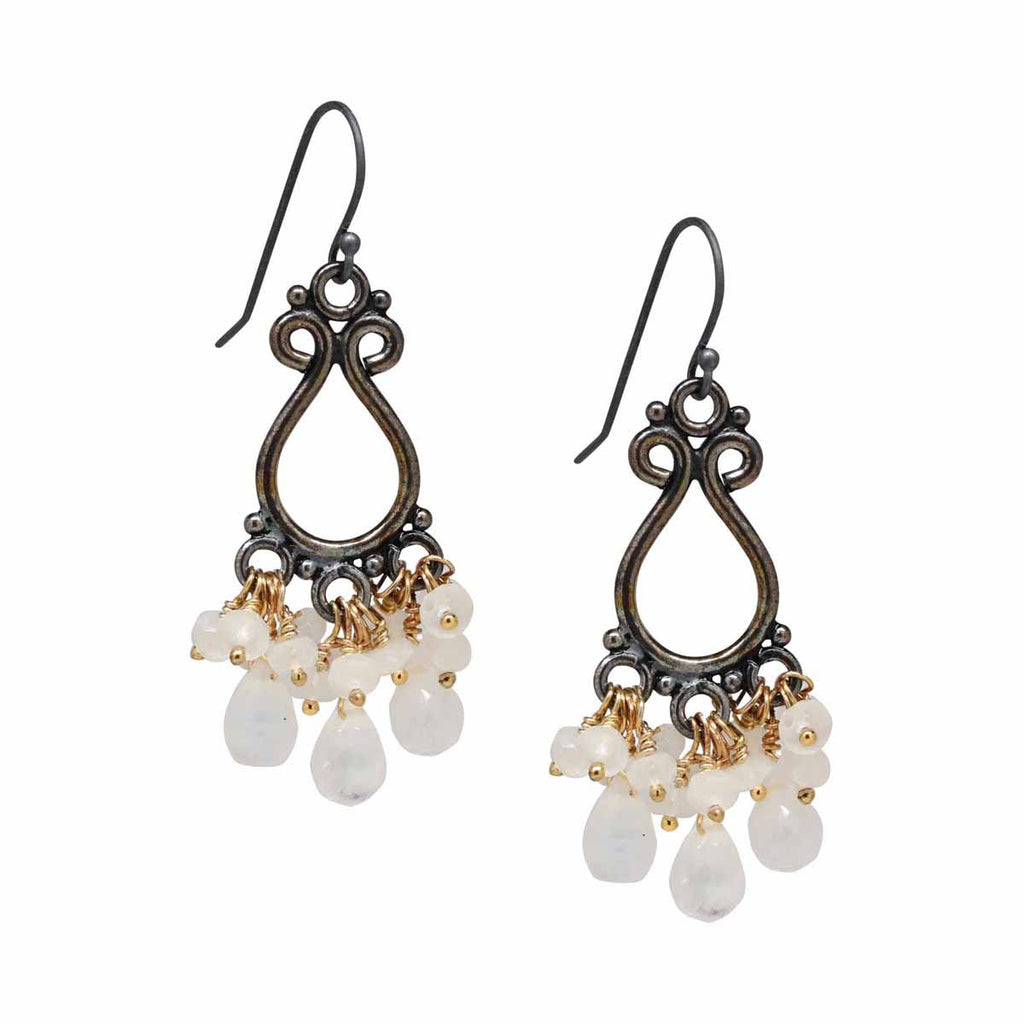 Moonstone chandelier earrings michelle smith collection for moonstone chandelier earrings aloadofball Images