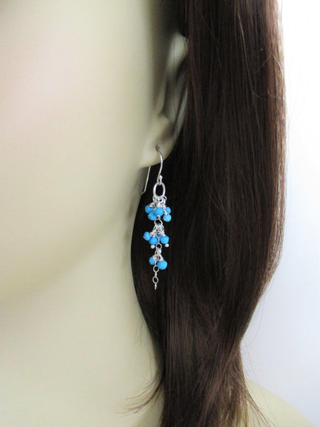 Sterling Silver Sleeping Beauty Turquoise Earrings