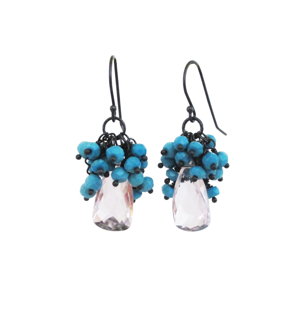 dangle light and silver earrings sterling blue com dp topaz london amazon jewelry
