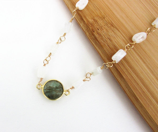 Labradorite Moonstone Necklace