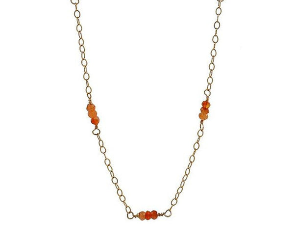 Carnelian Gold Chain Necklace