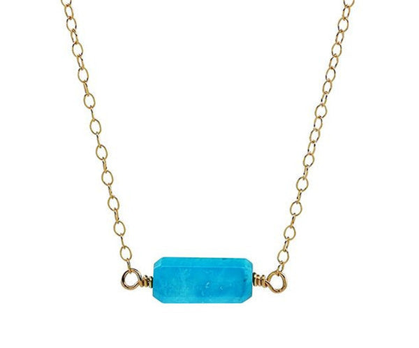 Gold Sleeping Beauty Turquoise Necklace