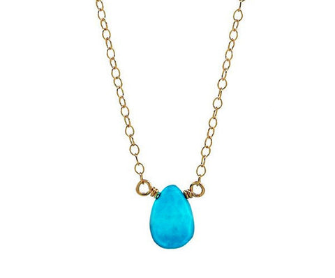 Sleeping Beauty Turquoise Gold Necklace