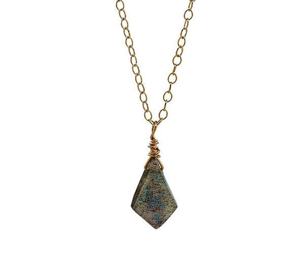 Labradorite Gold Necklace