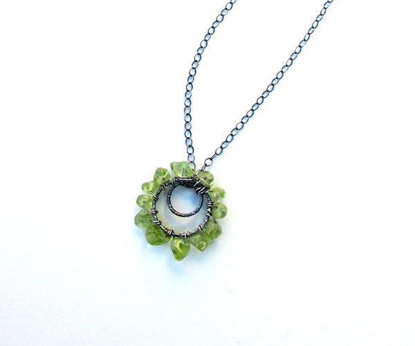 Peridot Sterling Silver Necklace