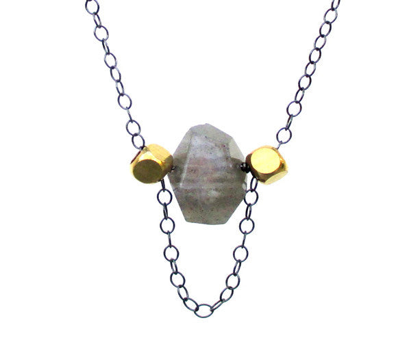 Labradorite Sterling Silver Necklace