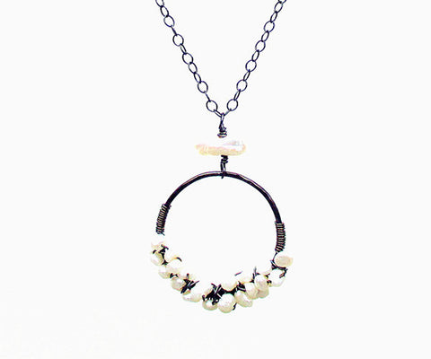 Long Freshwater Pearl Sterling Silver Necklace