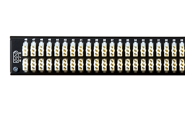 Patchbay - Audio TT (Bantam) Internally Programmable Patchbay, 968-S Series, 2x48, 1 RU, E3 Rear Interface, Stereo Jack Spacing