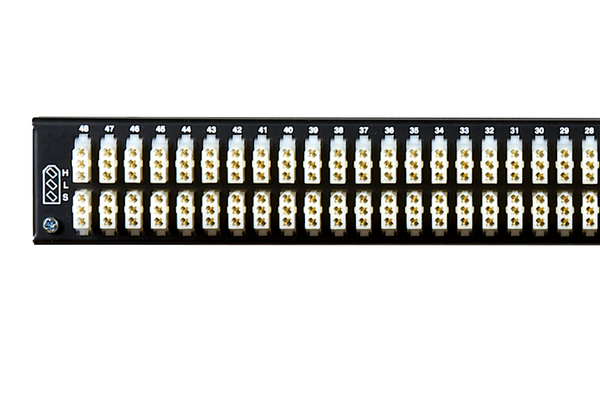 Patchbay - Audio TT (Bantam) Internally Programmable Patchbay, 968 Series, 2x48, 1 RU, E3 Rear Interface, Stereo Jack Spacing
