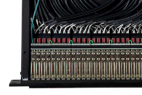 968s - 2x48 1.5RU TT Patchbay, Internally Selectable TRS Audio, Stereo Jack Spacing