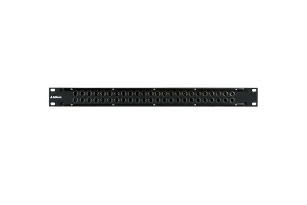"488 - 2x24, 1RU 1/4"" Long-Frame Patchbay, Internally Programmable TRS Audio"