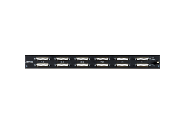 968 - 2x48 1RU TT Patchbay, Internally Selectable TRS Audio, Stereo Jack Spacing