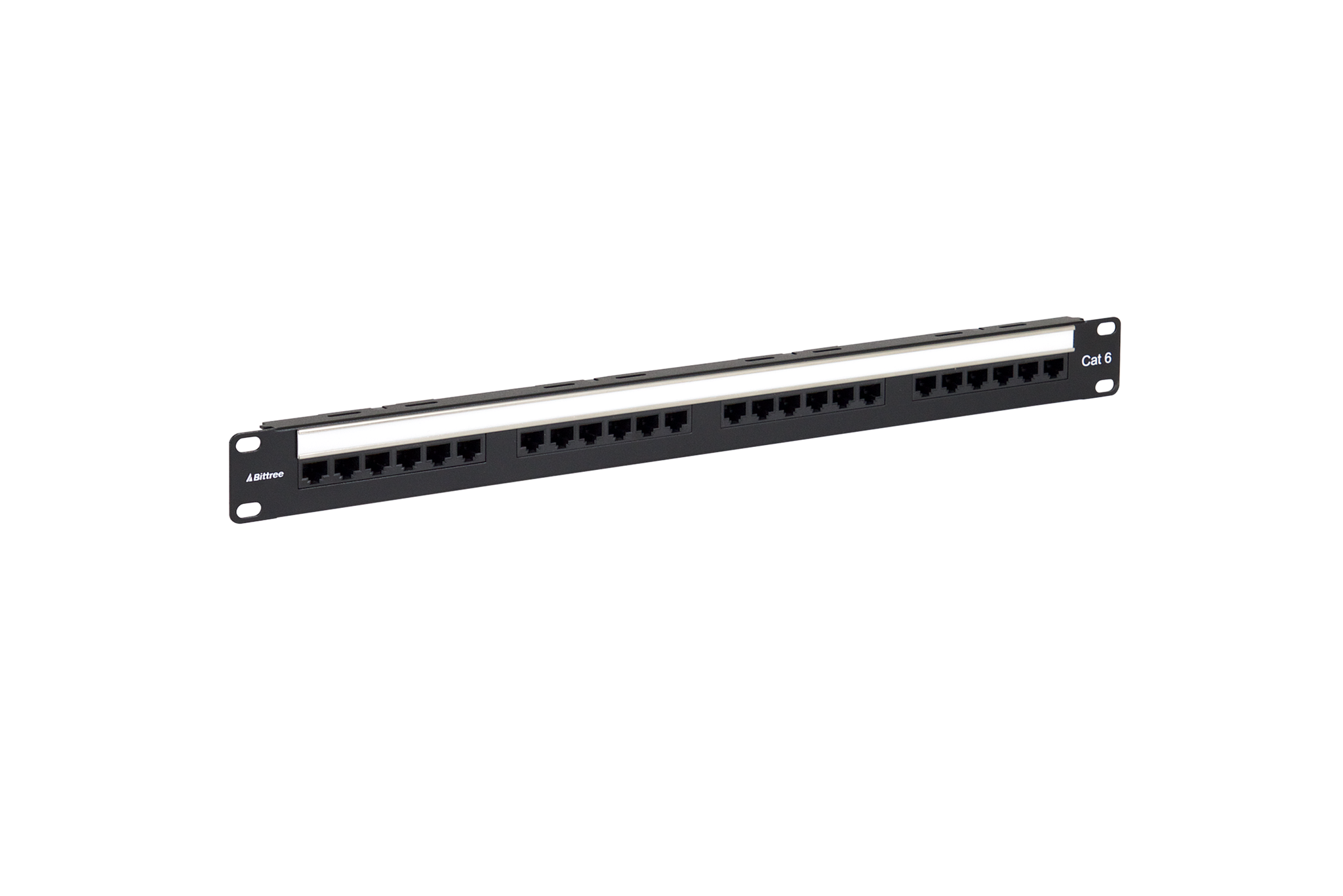 Flush-Mount Gigabit Ethernet Panel, CAT 6, 110 Punchdown