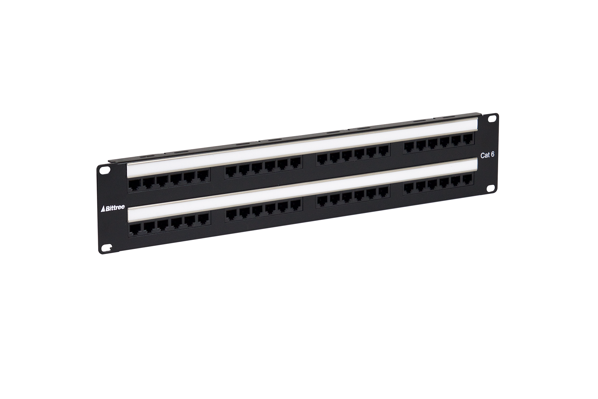 ... Flush-Mount Gigabit Ethernet Panel, CAT 6, 110 Punchdown, Unshielded,  2x24 ...