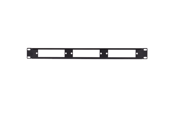 Fiber-Optic Insert Patch Panel, 1x3, 1 RU, Unpopulated