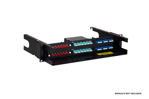 Fiber-Optic Insert Enclosure, 2x3, 2 RU, Unpopulated