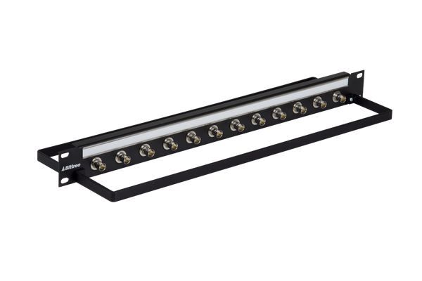 BNC Coaxial Bulkhead Patch Panel, 1x12, 1 RU