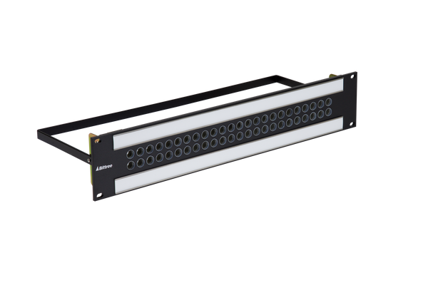 Mini-Triax Bulkhead Patchbay Kit, 2x24, 2RU, 35 I/O