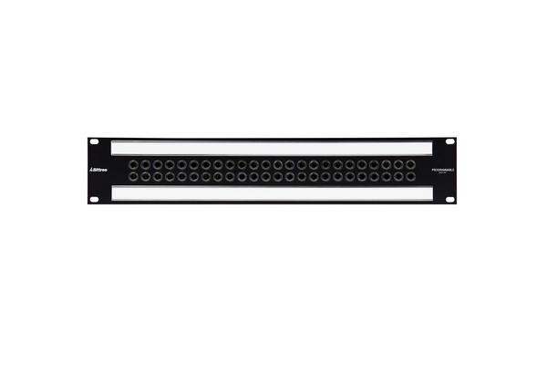 489a - 2x24 2RU 1/4 Inch Long-Frame Patchbay, Front Selectable TRS Audio