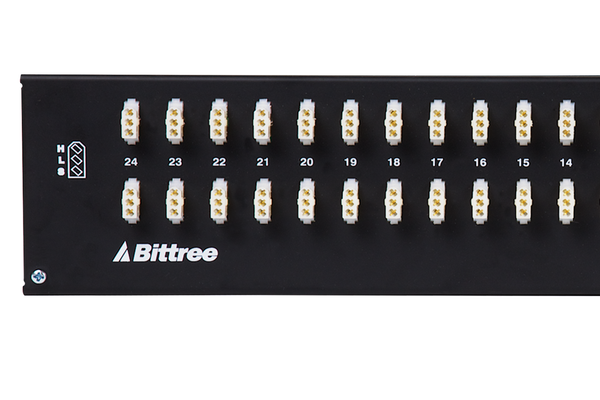 Patchbay - Audio 1/4 Inch Long-Frame Front Programmable Patchbay, 489-S Series, 2X24, 2 RU, E3 Rear Interface