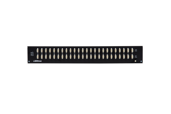 489s - 2x24 1.5RU 1/4 Inch Long-Frame Patchbay, Front Selectable TRS Audio