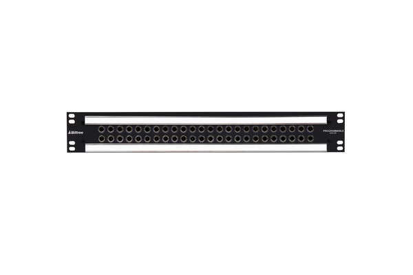 489a - 2x24 1.5RU 1/4 Inch Long-Frame Patchbay, Front Selectable TRS Audio